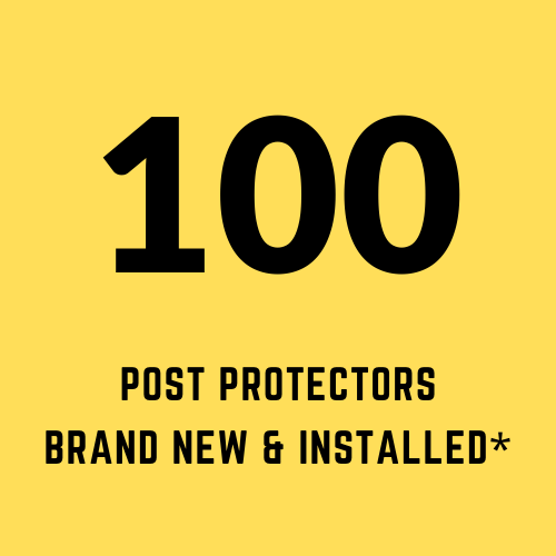 100 post protectors brand new and installed