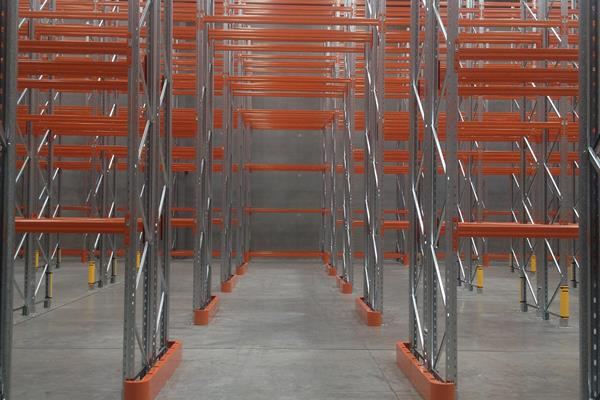 Racking uprights can be damaged through impacts from forklift trucks