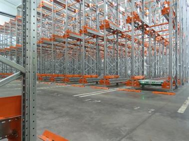 Shuttle racking is controlled by a remote-type system